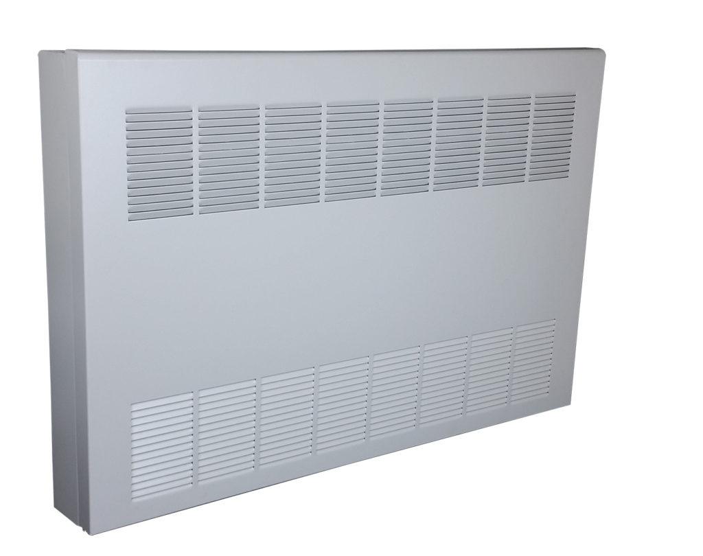 Convector cabinet white finish