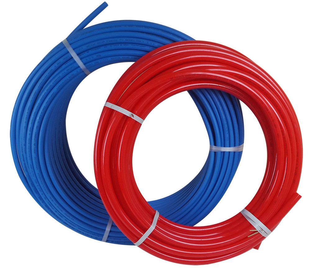 PEX tubing oxygen barrier and non-oxygen barrier
