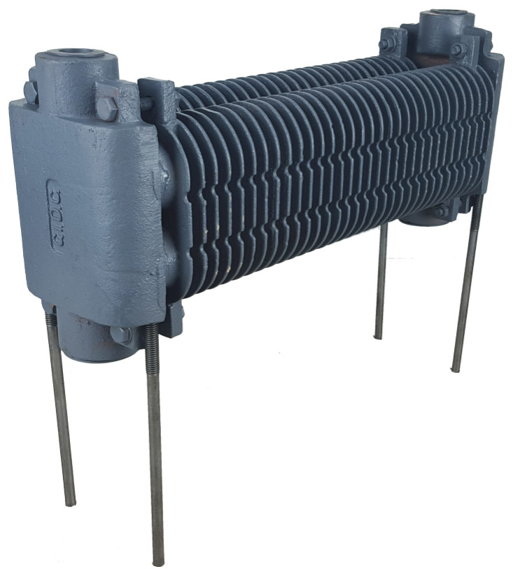 Cast iron finned hydronic heating element